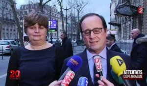 Hollande évoque des similitudes entre les attentats de Copenhague et de Paris