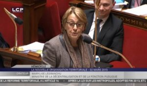 TRAVAUX ASSEMBLEE 14E LEGISLATURE : Suite de la discussions sur l'organisation territoriale de la République