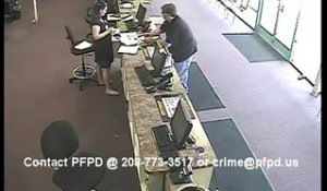 60sec Bank Office Robbery in Post Falls, Idaho