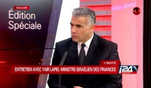 Interview exclusive de Yair Lapid, ministre des Finances, au Grand direct d'i24news - 18/11/2014.