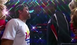 Stare Down Mayweather VS Pacquiao