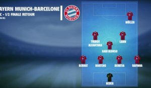 Bayern Munich - Barcelone : Les compos probables