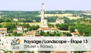 Paysage du jour / Landscape of the day - Étape 13 (Muret > Rodez) - Tour de France 2015