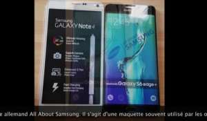 Samsung Galaxy S6 Edge Plus : photos du design final
