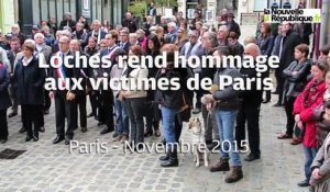 VIDEO. Loches rend hommage aux victimes de Paris