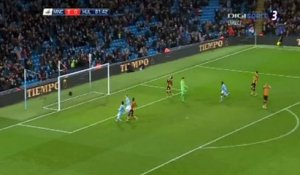 Kevin De Bruyne (Manchester City) marque son premier but face à Hull City en  Coupe de la Ligue