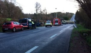 Accident de la route sur la D972