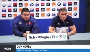 Rugby - Guy Novès annonce la composition du XV de France face à l'Italie