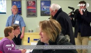 "Bernie Sanders vote pour le ""Super Tuesday"""