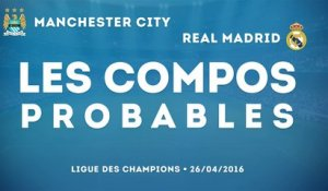 Les compositions probables de Manchester City - Real Madrid