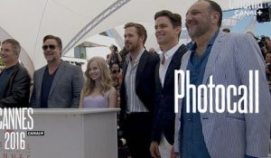Ryan Gosling, Russel Crowe, Matthew Borner (The Nice Guys) - Photocall Officiel - Cannes 2016 CANAL+