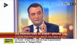 """Plus on francise, plus je suis heureux"" : Florian Philippot"