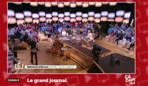 Un invité quitte le plateau du Grand Journal en direct