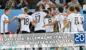 Euro 2016: Allemagne-Italie, 9 stats pour bluffer vos potes