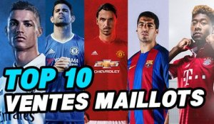 Top 10 des clubs qui vendent le plus de maillots !