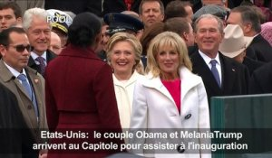 Etats-Unis: le couple Obama et Melania Trump au Capitole