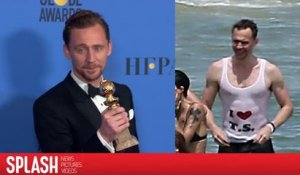 "Tom Hiddleston explique enfin son t-shirt ""I coeur T.S."""