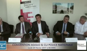 BEZIERS - CONVENTION AGGLO & CLJ POLICE NATIONALE