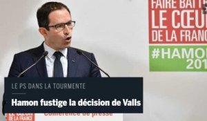 Hamon appelle à sanctionner les « politiciens qui vont là où le vent va »