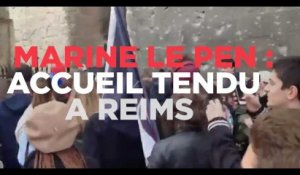 Marine Le Pen : accueil tendu à Reims