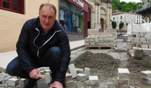 JUSSEY : 35.000 PAVES POSES AU CENTRE VILLE