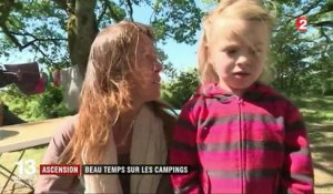 Ascension : le beau temps remplit les campings