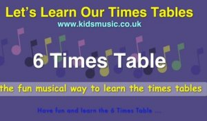 Kidzone - Let's Learn Our Times Tables - 6 Times Table