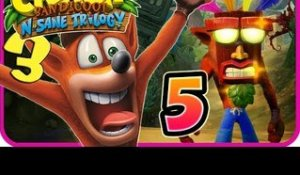 Crash Bandicoot N. Sane Trilogy Walkthrough Part 5 (PS4) Crash 3 - Zone 5
