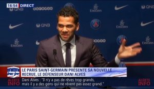 "D. Alves : ""Paris me draguait, on est marié"""