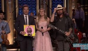 Miley Cyrus & Billy Ray Cyrus Pay Homage to Tom Pettty on 'Tonight Show' | Billboard News