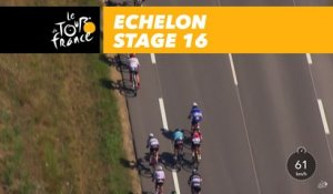 Bordure dans le peloton / Echelon in the peloton - Étape 16 / Stage 16 - Tour de France 2017
