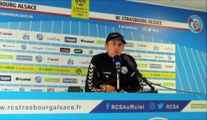 Thierry laurey (RAcing) avant la réception de Nantes