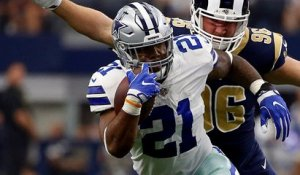 Ezekiel Elliott finds room to run on 15-yard gain