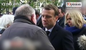 Attentats du 13 novembre 2015: l'immense émotion du couple Macron
