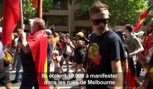 "Australie: manifestation contre la ""Journée de l'invasion"""