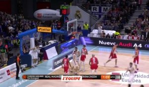 Basket - Euroligue (H) : L'Etoile rouge brille à Madrid