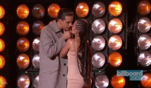 G-Eazy & Halsey Get Sensual With 'Him & I' Performance on 'Jimmy Kimmel Live!' | Billboard News