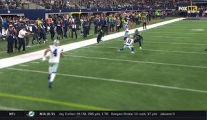 Prescott avoids the rush, takes off for 13 yards and a first down