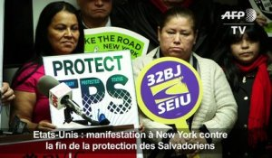 Fin de la protection des Salvadoriens, manifestation à New York