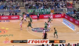 Basket - Euroligue (H) : Le Panathinaïkos domine Vitoria