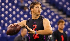 Josh Allen throws deep ball nearly 70 YARDS during combine drill
