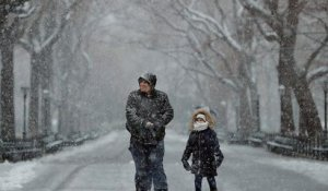 La neige perturbe New York