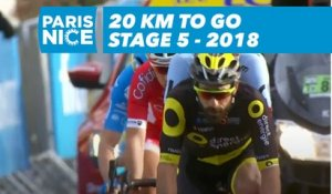 20 kilometers to go - Étape 5 / Stage 5 - Paris-Nice 2018