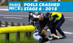 Poels crashed - Étape 6 / Stage 6 - Paris-Nice 2018