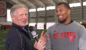 Chubb talks about working with Belichick at NC State's pro day