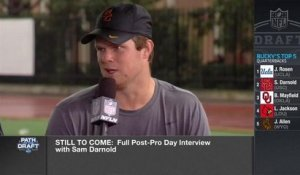 Sam Darnold says that he met with both the Browns and Giants