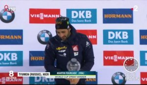 Biathlon : inarrêtable Fourcade