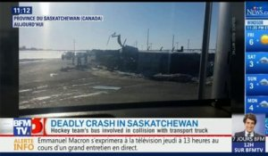 Canada: les images de l'accident de bus qui a fait 14 morts
