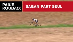Sagan part seul - Paris-Roubaix 2018