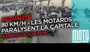 Manif FFMC contre les 80 kmh - Les motards bloquent Paris